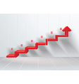 Business stair conceptual design vector image vector image