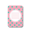card with place for notes cute template can be vector image