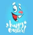 cartoon easter rabbit face vector image