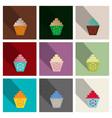 chocolate cupcake vector image vector image