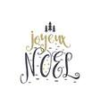 christmas in french greeting joyeux noel vector image