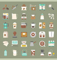 coffee brew equipment for coffee shop vector image vector image