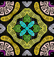 colorful greek ornate paisley seamless vector image vector image