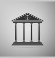 courthouse icon isolated on grey background vector image vector image