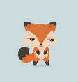 cute mini fox vector image vector image