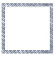 Decorative Greek frame for design vector image vector image