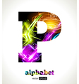 Design Abstract Letter P vector image vector image