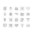 designing line icons signs set outline vector image vector image