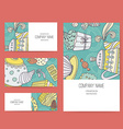 Dessert Business Set vector image vector image