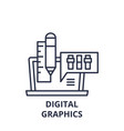 digital graphics line icon concept digital vector image vector image