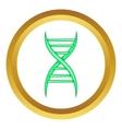 DNA strand icon vector image vector image