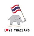 Elephant hold Thai flag4 vector image vector image
