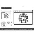 Email line icon vector image vector image
