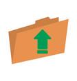 file folder icon image vector image vector image