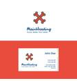flat bones logo and visiting card template vector image vector image