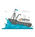 Flat design alaska crab fishery vector image