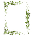 Frame green leaves vector image vector image