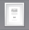 frame with a4 page and plastic border page vector image