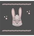 funny bunny retro style vector image vector image