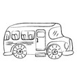 grunge vehicle school bus education transportation vector image vector image