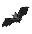 Halloween bat cartoon isolated on white background vector image