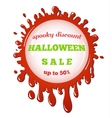 halloween sale red stain vector image vector image
