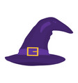 halloween witch hat isolated on a white vector image vector image