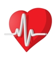 Heartbeat cartoon icon vector image vector image