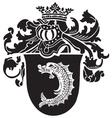 heraldic silhouette No45 vector image vector image