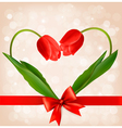 Holiday background with two flowers vector image