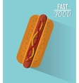 Hot dog and fast food design vector image