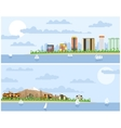 Hotels on the beach vector image