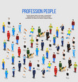 human professions isometric background vector image vector image