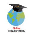icon education online vector image vector image