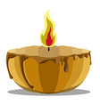 isolated candle made of a halloween pumpkin vector image