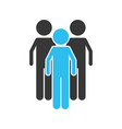 isolated teamwork design vector image vector image