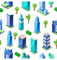 isometric city modern seamless pattern with city vector image