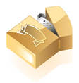 Isometric icon of lighter vector image