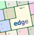 Keyboard key with edge button vector image