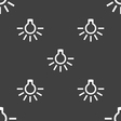 light bulb icon sign Seamless pattern on a gray vector image vector image