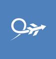 logo airplane design vector image