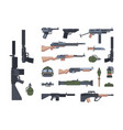 military weapons and protection flat vector image