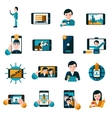 Mobile photo icons set vector image vector image