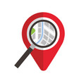 navigator pointer map magnifier location concept vector image vector image