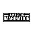 no imagination vector image