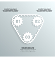 paper gears infographic 2 vector image