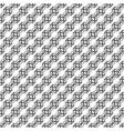 pattern with black and white curls vector image