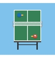 pixel art style ping pong and rackets sport table vector image vector image