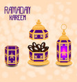ramadan kareem concept of a islamic holiday vector image