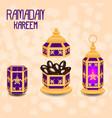 ramadan kareem concept of a islamic holiday vector image vector image